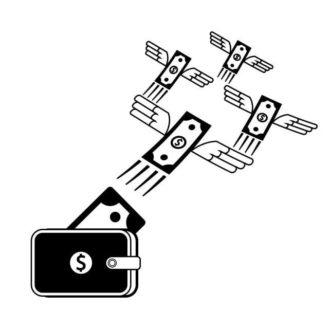 55b5d9f89c44 Flies Money Icon Designed Cool And Elegant For All Application Uses ...