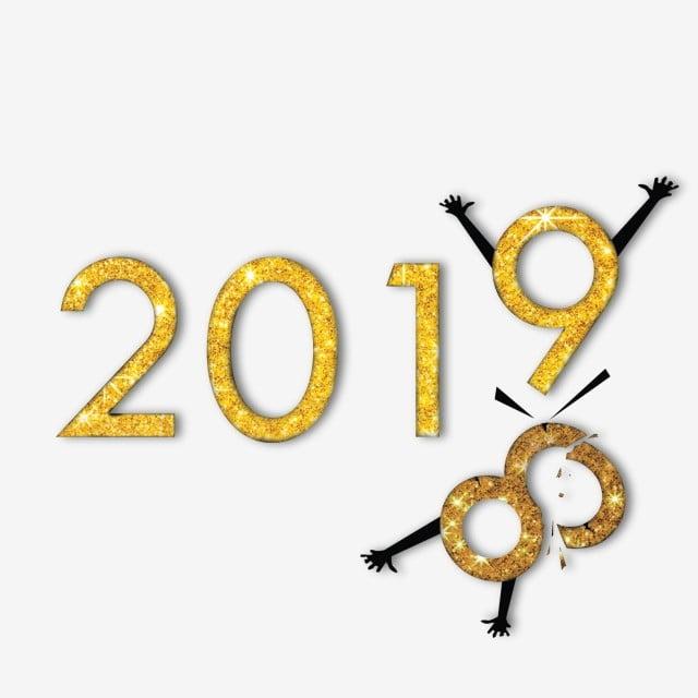 happy new year 2019 art new year happy new year png and psd