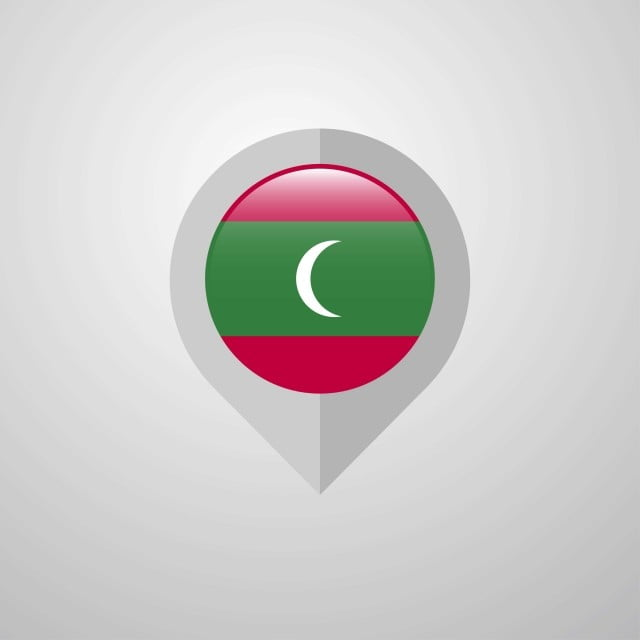Carte Asie Maldives.Carte De Navigation De Pointer Avec Les Maldives Drapeau Vecteur 26