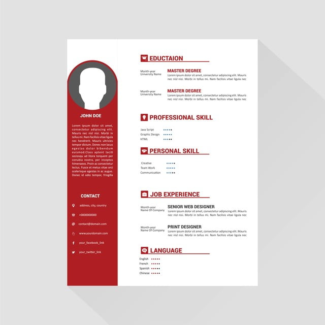 Professional Cv Resume Template Design For A Creative Person, 3d ...