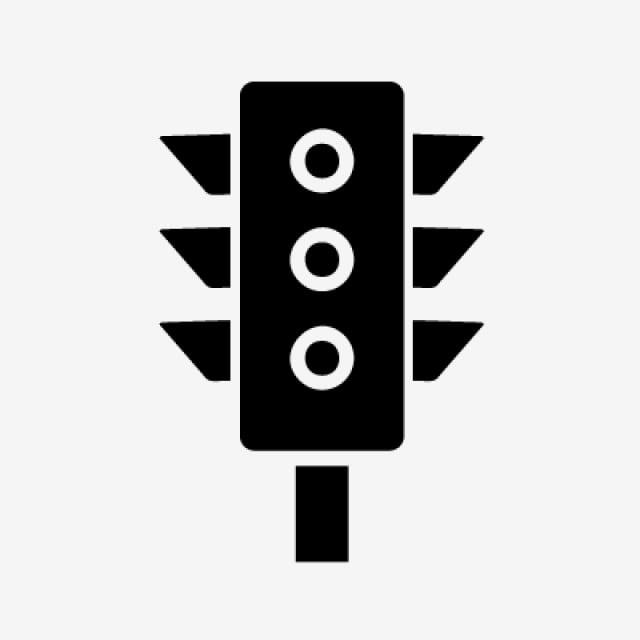 Светофор Компьютерные иконки, светофор, монохромный, уличный свет ... | 640x640