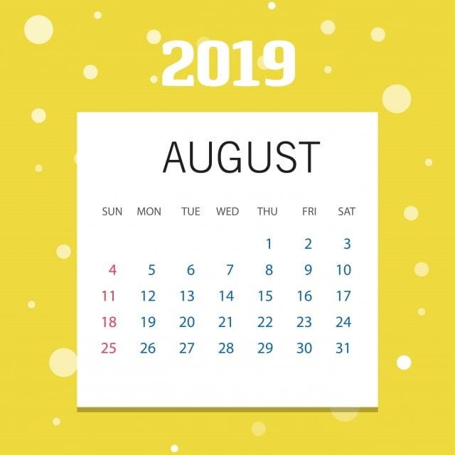 Kalender Weihnachten 2019.Frohes Neues Jahr August Kalender Template Weihnachten Backgrou 2019