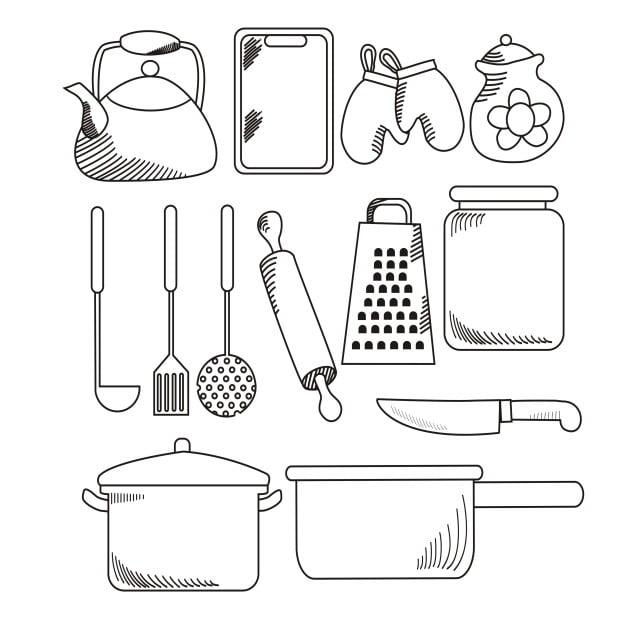 Kitchen Appliances Vector Illustration Kitchen Appliances Icon