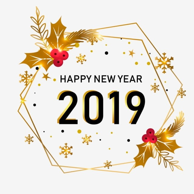 new year golden style png psd gold new year happy new year party
