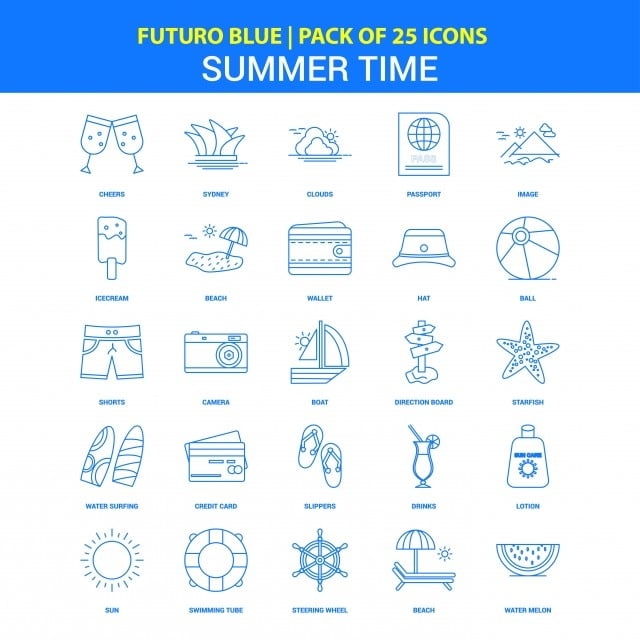 summer time icons futuro blue 25 icon pack time icons summer icons blue icons png and vector with transparent background for free download https pngtree com freepng summer time icons futuro blue 25 icon pack 3758913 html
