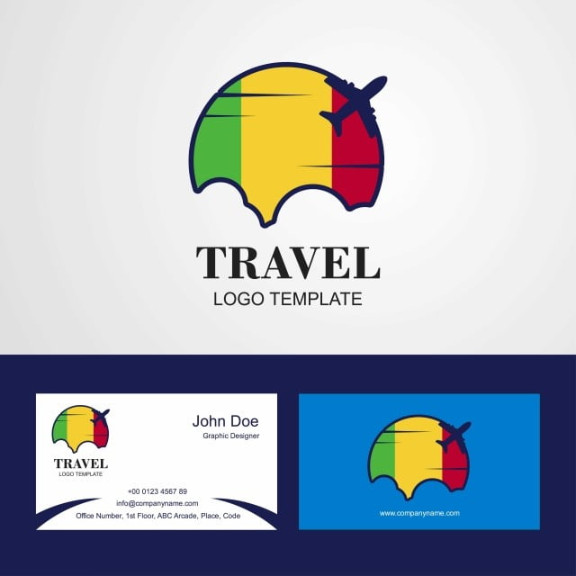 La Carte De Visite Du Voyage Au Mali Logo Et Conception Gratuit PNG Vecteur