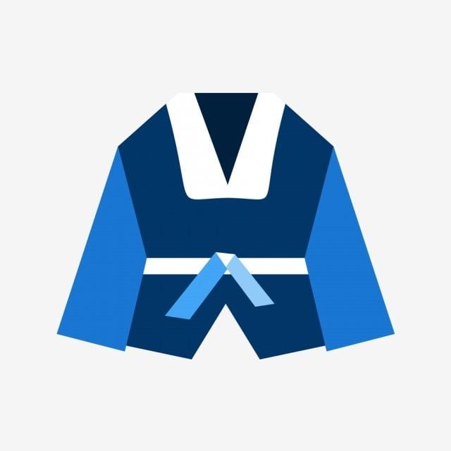Vector Karate Costume Icon Taekwondo Icon Judo Icon Karate Icon