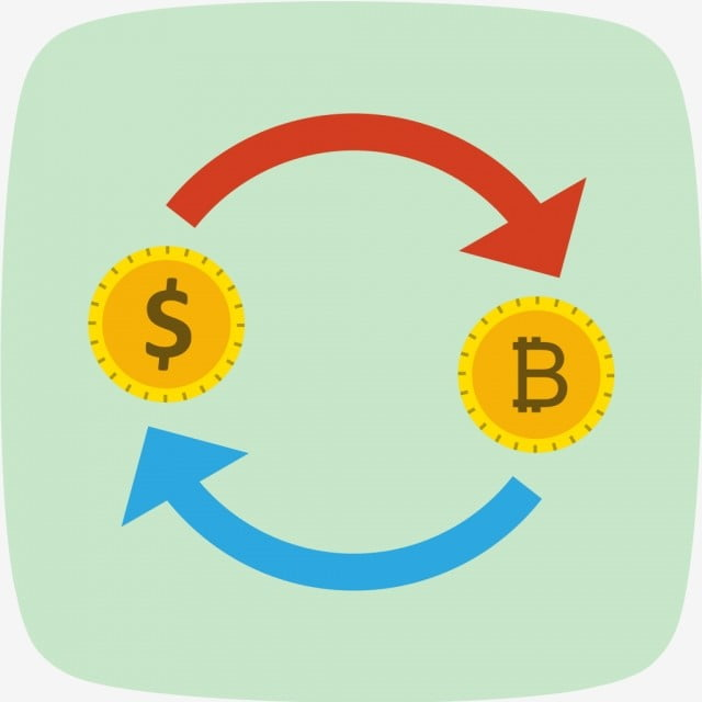 Exchange Bitcoin With Dollar Vector Icon Currency Png And