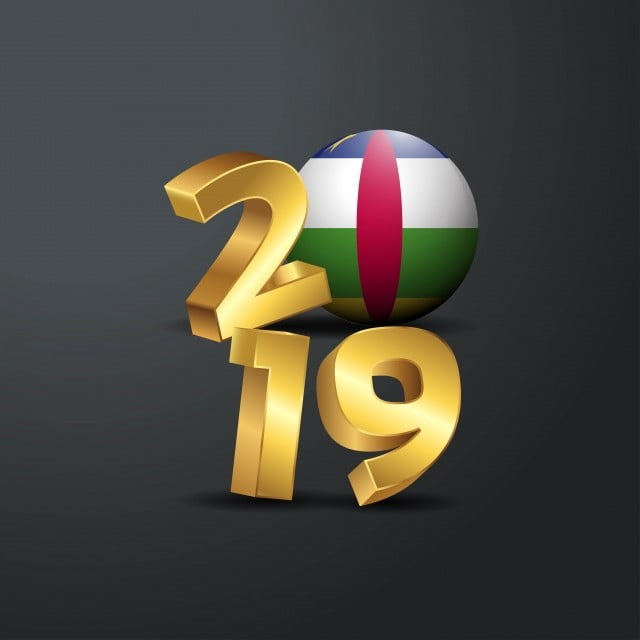 Tipografi Emas 2019 Dengan Bendera Republik Afrika Tengah Bahagia 13 13 Afrika Png Dan Vektor Dengan Latar Belakang Transparan Untuk Unduh Gratis