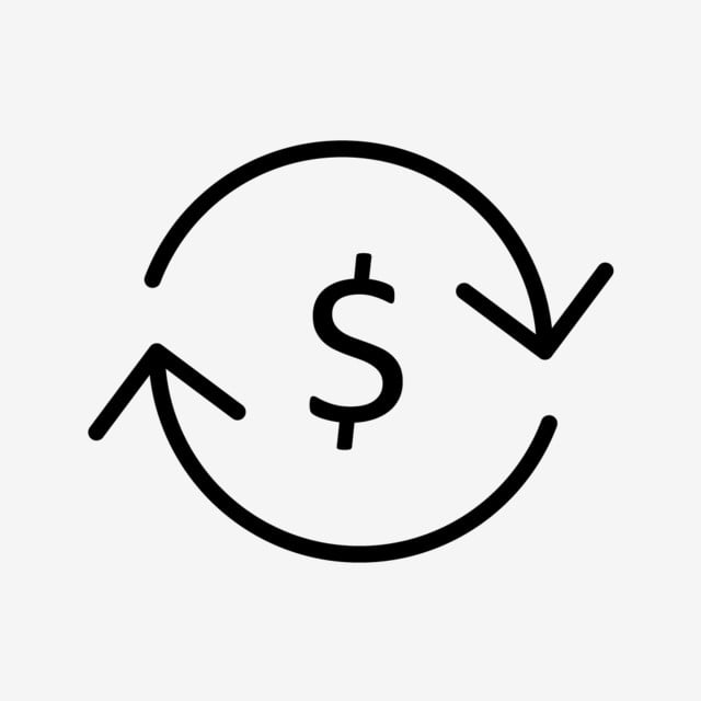 Currency Exchange Line Black Icon Png And Vector