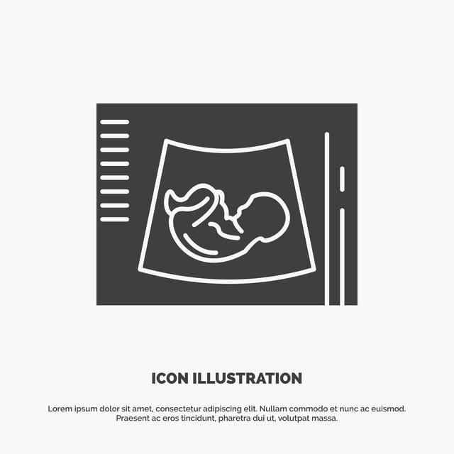 e2a4c023c bebe maternidad el embarazo ecografía Ultrasonido icono glifo VEC Gratis  PNG y Vector