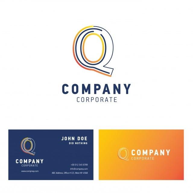 Q Societe Vecteur Logo Avec Carte De Visite Gratuit PNG Et