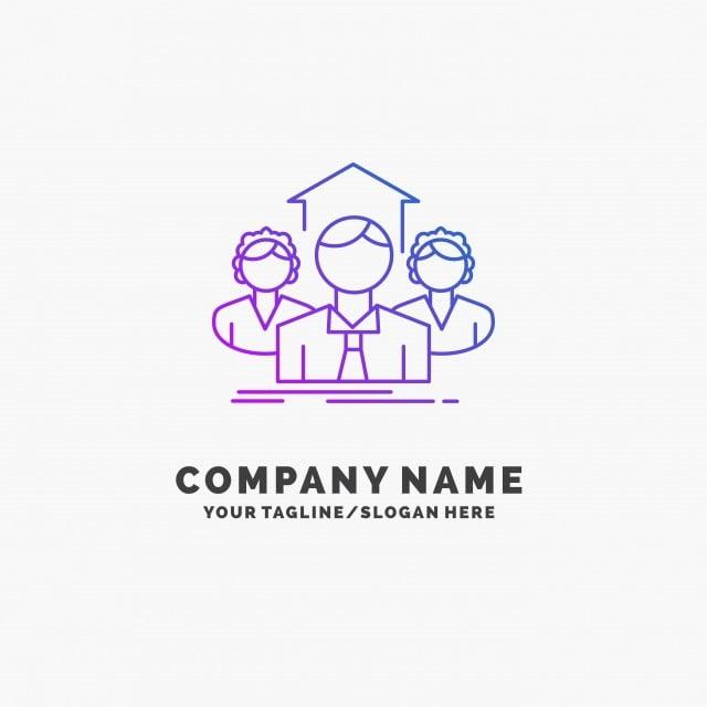 Team Business Teamwork Group Meeting Purple Business Logo Te