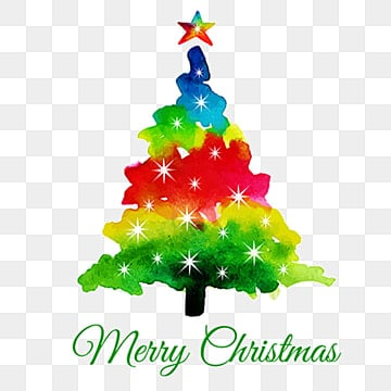Watercolor Abstract Christmas Tree, Watercolor, Color, Colors PNG and Vector