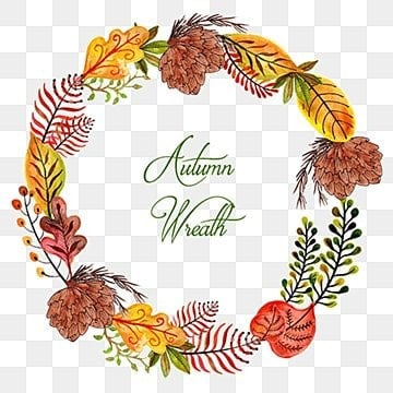 Watercolor Autumn Wreath, Autumn, Watercolor, Color PNG and Vector