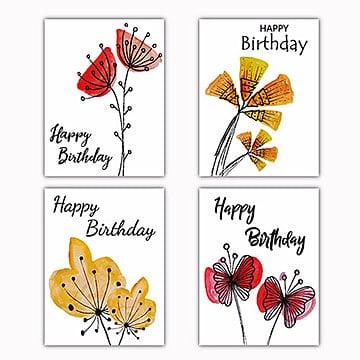 Acuarela floral tarjeta de deseos, Acuarela, Color, Colorido PNG y Vector
