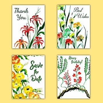 Watercolor Floral Wishes Card, Watercolor, Color, Colorful PNG and Vector