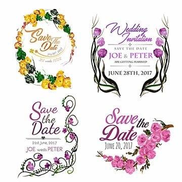 Watercolor Floral Wedding Logos, Floral, Ornamnets, Boho PNG and Vector