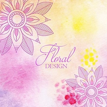 Hand painted and watercolor floral background, Floral Vector, Decoration, Decorative PNG and Vector