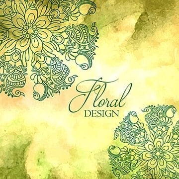 Floral Background, Decoration, Decorative, Painted PNG and Vector