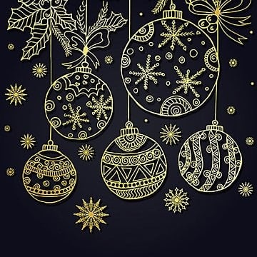 Hand drawn Christmas Background, Background, Line, Art PNG and Vector