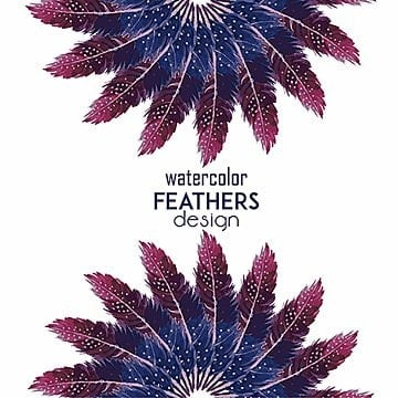 Watercolor Feather Background, Feather, Background, Texture PNG and Vector