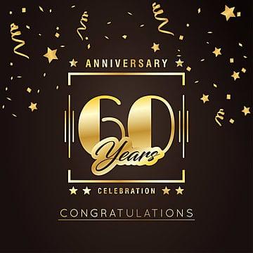 Sexagésimo aniversário golden badge eps10 ilustração vetorial, 10, Idade, AniversárioPNG e Vector