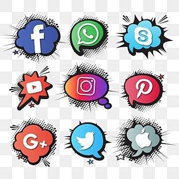 مجموعة من الرموز الاجتماعية,اسلوب كوميدي, مناقشة, دوت, رسم PNG و فيكتور