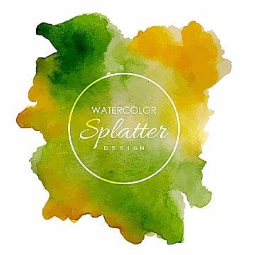 Hand Drawn Watercolor Splatter Designs, Watercolor, Purple, Splash PNG and Vector