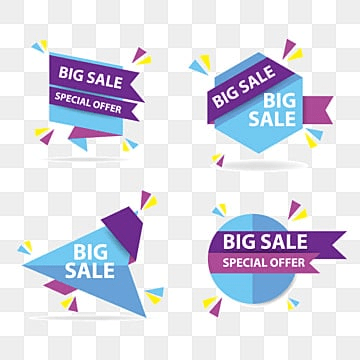 Colorful shopping sale tags, Sale, Tags, Offer PNG and Vector