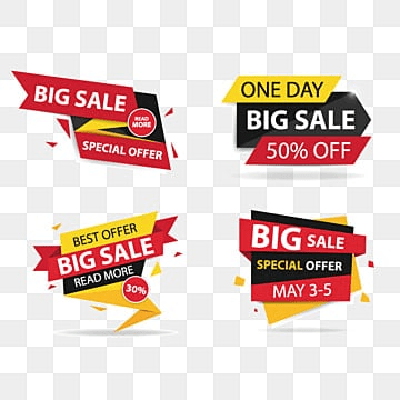 Colorful shopping sale banner, Sale, , Offer PNG and Vector illustration image
