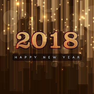Happy New Year 2018 Elegant Royal background with Golden Bars Effect, New, Year, Background PNG and Vector