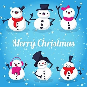 Cute Christmas characters, Christmas, Background, Winter PNG and Vector