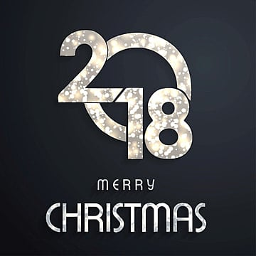 Christmas 2018 typography dark, 2018, Christmas, Party PNG and Vector
