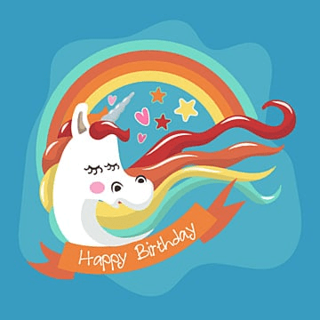 pretty unicorn card with  and star, Birthday, Invitation, Illustration PNG and Vector