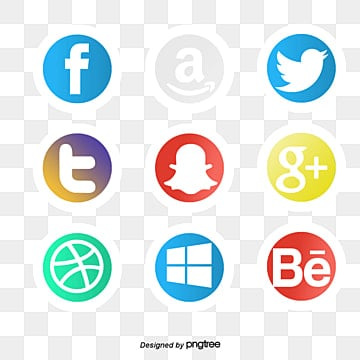 Social media icons collection, Logo, Technology, Icon PNG and Vector