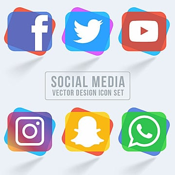 collection of social media icons, Style, Icon, Collection PNG and Vector