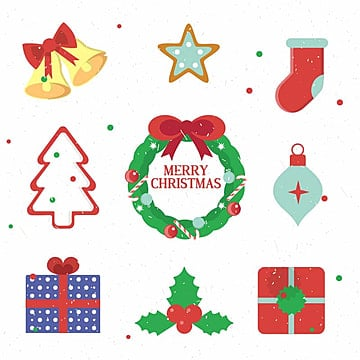 Christmas Elements, Design, Christmas, Icons PNG and Vector