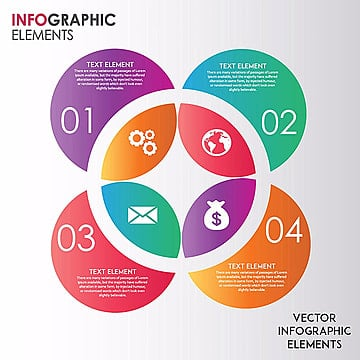 Elegant Circles Vector Ingographics Designs, Infograph, Step, Element PNG and Vector