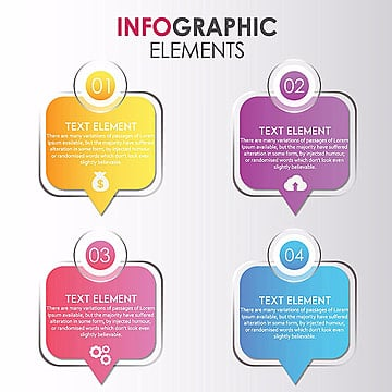 Square Points Amazing Vector Ingographics Designs, Infograph, Step, Element PNG and Vector