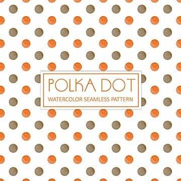 Elegante fondo marrón y naranja Watercolor Polka Dot, Acuarela, Color, Dibujado A Mano PNG y Vector