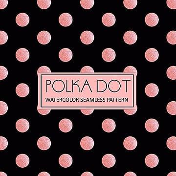 Royal pink e Branco polka dot background aquarela, Aquarela, Cor, Desenhados à MãoPNG e Vector