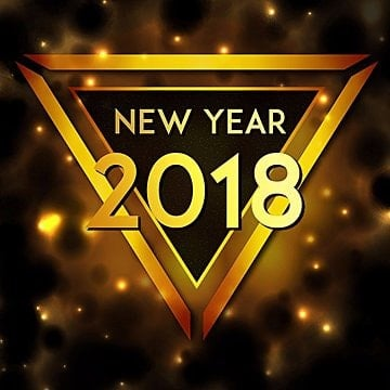 Golden Triangle Vector New Year 2018 Background, New, Year, 2018 PNG and Vector