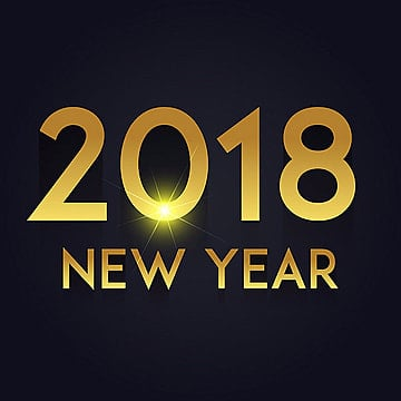 Golden Glow Vector New Year 2018 Background, New, Year, 2018 PNG and Vector