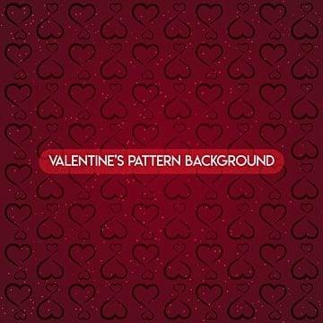 Valentine pattern background design, Patrón, Amor, Corazón PNG y Vector