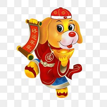 китайский новый год 2018, китайский новый год, к 2018 году, собакаPNG и PSD