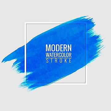 modern blue stroke watercolor background, Abstract, Background, Watercolor PNG and Vector