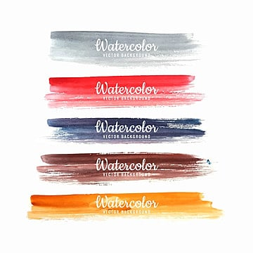 abstract watercolor colorful strokes set design, Background, Watercolor, Abstract PNG and Vector