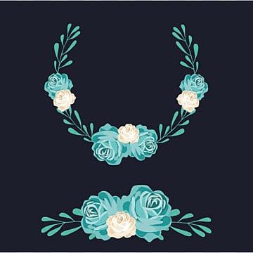 wreat цветочные Blue Sky, цветы, цветы, листьяPNG и вектор