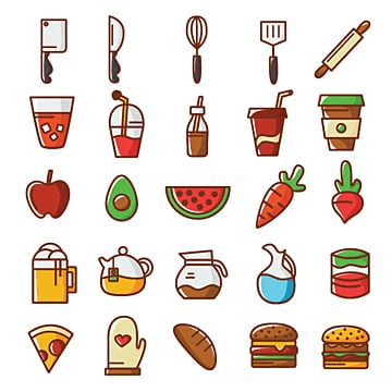 Food icons, , Nutrition, Food PNG and Vector